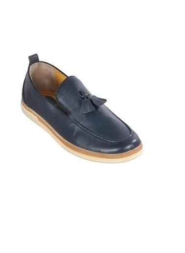 Ayakmod 015 Lacivert Erkek Günlük Hakiki Deri Ayakkabı Lacivert